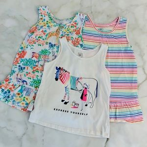 Girls babyGap tank tops. 3 included. 5 yrs.